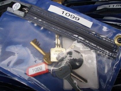 Security keyholding keys sealed in secure pouch