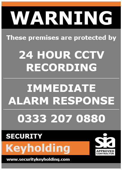 Warning Premises Protected by CCTV